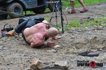 Barbed-wire crawl NY Sprint